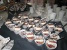 Buffet presentation of delicious chocolate Javanais dessert