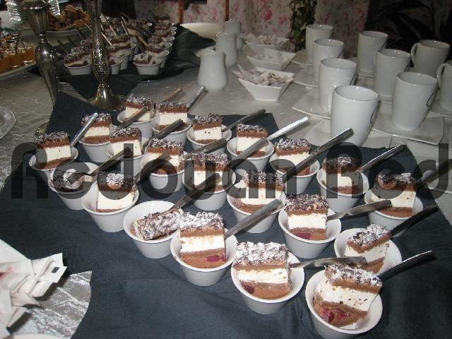 Product picture Buffet presentation of delicious chocolate Javanais dessert